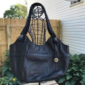 The Sak Black Leather Indio Satchel